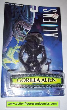 Kenner hasbro toys ALIENS vs PREDATOR movie action figures for sale to buy 1996 kaybee toys exclusive, BLACK GORILLA ALIEN New - Still Factory Sealed in the original package Condition: Overall a great
