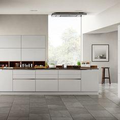 Modern Kitchen Cabinets with Goldreif by Poggenpohl Modern Kitchen Cabinets, Kitchen Cabinet Colors, Kitchen Interior, Kitchen Appliances, Kitchen Ideas, Kitchen Island, Kitchen Colour Combination, Monochrome Interior, Cocinas Kitchen