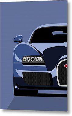 Bugatti Veyron car auto art poster