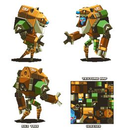Lowpoly Alien Mech-suit thing by KennethFejer.deviantart.com on @DeviantArt