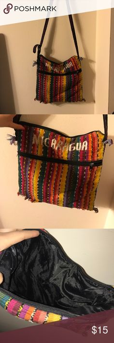 CROSS BODY BAG NICARAGUA bag! I love this so much it's so roomy and so cute to carry things in! in good condition! // Authentic Nicaragua bag Bags Crossbody Bags