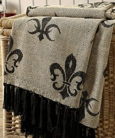 Another great find on #zulily! 50'' x 60'' Elysee Chenille Jacquard Woven Throw by Bella Taylor #zulilyfinds