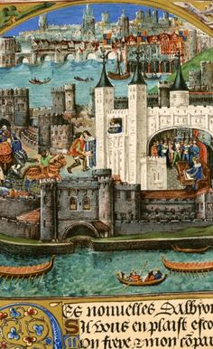 When William the Conqueror seized control of England in 1066, he ordered the construction of several forts on the Thames to defend London against attack. The most famous was the Tower of London, pictured here in the 1400s.