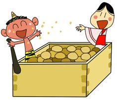 豆まき Family Guy, Japanese, Holidays, Cute, Fictional Characters, Holidays Events, Japanese Language, Holiday, Kawaii