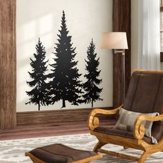 Loon Peak Dos Palos Pine Evergreen Trees Wall Decal