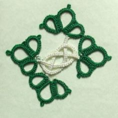Practice pattern for Celtic tatting