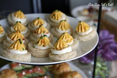 Deviled Egg Tea Sandwiches