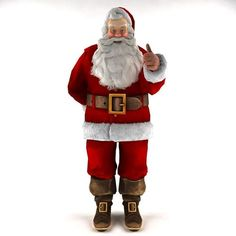 Santa Claus 2015 – animated rigged free 3D model ready for CG projects. Available formats: 3D Studio (.3ds)
