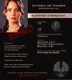 Katniss File Info. But not up to date with catching fire and mockingjay