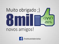 8 MIL CURTIDAS NA NOSSA FAN PAGE. MUITO OBRIGADO ;)  IVV, a escola de ESTÉTICA que mais cresce no Rio de Janeiro. Já são mais de 5 mil alunos formados!  Conheça nossos CURSOS :) http://institutovaleriavaz.com.br/cursos/ Curta nossa FAN PAGE ;) https://www.facebook.com/InstitutoValeriaVaz/