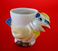 Sweet Vintage Made in Japan Novelty Ceramic Egg Cup - Hen Chicken Rooster Vintage Egg Cups, Hen Chicken, Boiled Eggs, Hens, Ceramics, Roosters, Tableware, Sweet, Tooth