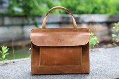 Leather handbag, womens handbag, top handle bag, handmade bag, genuine leather bag, mens bag, handbag, mens handbag, Karabas Light Ginger