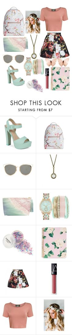"""springtime"" by anitri ❤ liked on Polyvore featuring Call it SPRING, Ted Baker, Christian Dior, Zara Taylor, Paige Gamble, Jessica Carlyle, ban.do, NARS Cosmetics, Pilot and Emily Rose Flower Crowns"