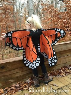 Monarch Butterfly Costume Dress Up Wings for Children