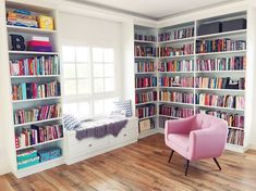 46 Ideas For Home Library Bookshelves Offices Home Library Rooms, Home Library Design, Home Libraries, House Design, Library Ideas, Bookshelf Inspiration, Room Inspiration, Library Bookshelves, Bookcases
