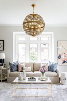 a home with a gorgeous color palette and just the right touch of gold Read More on SMP: http://www.stylemepretty.com/living/2016/05/10/master-the-perfect-touch-of-gold-like-this-design-pro/