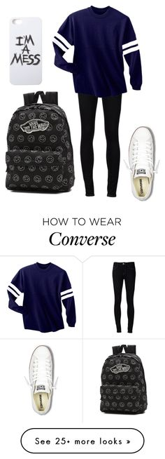 """""""Untitled #81"""" by music-is-bea on Polyvore featuring Ström, Converse, Vans and LAUREN MOSHI"""
