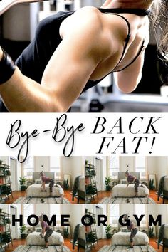 """Asking Google """"How To Get Rid Of Back Fat?"""" Look no further my friend! My gym or home friendly """"Bye-Bye Back Fat"""" workout is here to help!"""