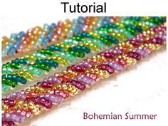 Bohemian Summer Ladder Stitch Bracelet PDF Beading Pattern | Simple Bead Patterns