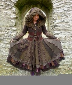 Ragamuffin - Gypsy sweater coat from recycled sweaters by SpiralGypsy Size S/M RESERVED - please do not purchase. $465.00, via Etsy.