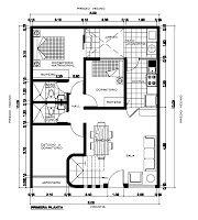 Planos de Viviendas Gratis: Plano de 8 x 20 m en pdf