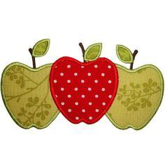3 Apples Applique