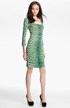 Just Cavalli Leopard Print Jersey Dress available at #Nordstrom