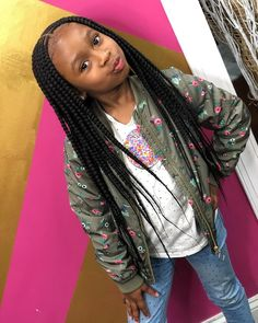 Black Kids Braids Hairstyles, Young Girls Hairstyles, Childrens Hairstyles, Cute Little Girl Hairstyles, Little Girl Braids, Baby Girl Hairstyles, Black Girl Braids, Braids For Kids, Black Children Hairstyles