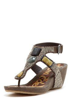 Nalo Thong Wedge Sandal