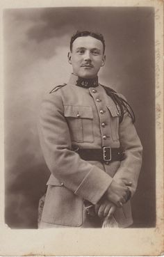 WWI French soldier studio portrait by hoosiermarine, via Flickr