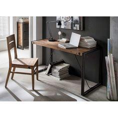 Schreibtisch Manchester - Akazie massiv/Metall