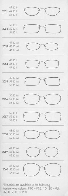 Lindberg Spirit - shapes/sizes 2051-2060
