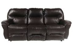 Time To Try a Recliner Sofa. A reclining couch permits you to relax totally in the most comfy of positions, as your legs recline in the chair, it fully supports your back and neck. Living Spaces Furniture, Sofa Furniture, Leather Reclining Sofa, Leather Sofa, Drop Down Table, Comfy Sofa, Power Recliners, Sofa Set, Family Room
