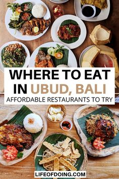 Wondering where to eat in Ubud (Bali, Indonesia)? This Ubud food guide highlights the best places to eat in Ubud at affordable prices! Ubud restaurants guide | Cheap eats in Ubud | Ubud travel guide | What to do in Ubud | Ubud travel tips | Things to do in Bali | Must eat Ubud | What to eat in Ubud | Where to eat in Bali | Cheap food in Bali #LifeOfDoing Bali Travel Guide, Travel Tips, Slow Travel, Thailand Travel, Asia Travel, Time Travel, Travel Guides, Cheap Food, Cheap Meals