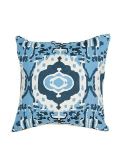 En Casa Pillow in Vanilla Ice & Heritage Blue design by Luli Sanchez | BURKE DECOR