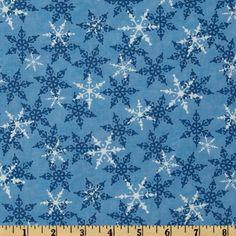 Moda Share The Joy Snowflakes Winter Frost Blue
