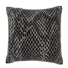 Black Snakeskin 18-inch Velour Throw Pillow | Overstock.com Shopping - Great Deals on Throw Pillows