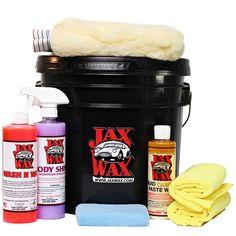 Jax Wax - Jax Wax Easy Wash and Wax Car Care Bucket Organizer Kit