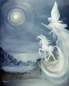 Unicorn ans Angel in my Fairy dream