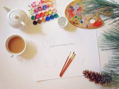 Kids logo - work in progress Kids Logo, Bakery, Fox, Logo Design, Branding, Watercolor, Logos, Pen And Wash, Watercolour
