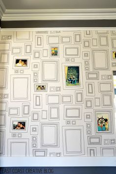 DIY Photo Wallpaper I would love to this in the hallway!