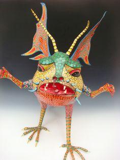 Alebrije, or Fantastical Creature. Felipe Linares. Mexico City, Paper Mache. Folk Art.