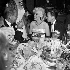 Cole Porter, Marilyn Monroe, and Donald O' Connor New Years At The Ambassador Hotel Coconut Grove Los Angeles, Ca January 1, 1953
