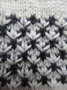 A textures colourwork? This looks lovely. Will have to try a swatch of this! :] [Black & White Flowers]