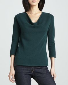 Cashmere Cowl-Neck Sweater by Neiman Marcus at Neiman Marcus.