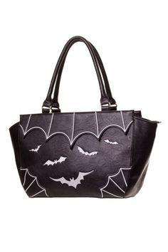 Banned Handtasche White Bats Tasche Gothic Fledermaus Bag: Amazon.de: Koffer, Rucksäcke & Taschen