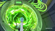 Rick and Morty. Dimensional portal.
