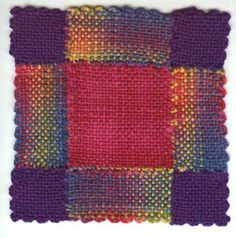 weavette quilt square - technique for joining pieces together