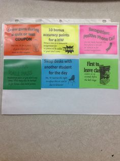 Middle school privilege coupons!  This is a great way to save money on raffle prizes.  This blog has a link to the TeachersPayTeachers document available for download.