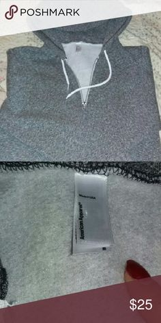 NWOT!!! Zip Up Hoodie American Apparel zip up hoodie!  Brand new for a fraction of retail price American Apparel Tops Sweatshirts & Hoodies